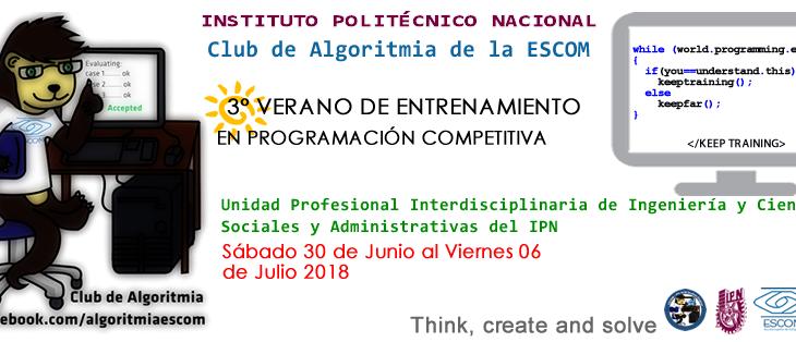 3er Verano de Entrenamiento en Programación Competitiva