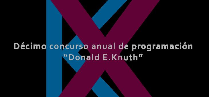 Registro de Participante Virtual al X Concurso anual de Programación «Donald Knuth»